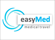 easyMED - לוגו בינלאומי לחברה המשווקת טיול רפואי בישראל